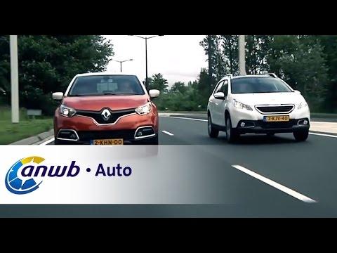 ANWB test Renault Captur versus Peugeot 2008