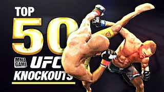 EA SPORTS UFC 3 | TOP 50 KNOCKOUTS - Community KO Video ep. 8