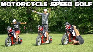 Motorcycle Speed Golf Challenge | Fastest To Play 6 Holes Wins $100