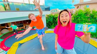 $10,000 DOLLAR TRAMPOLINE OBSTACLE COURSE!!