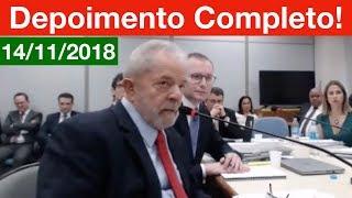 Depoimento do Lula Completo à Juíza Gabriela Hardt. 14/11/18