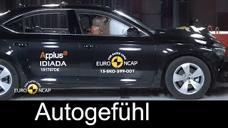 New Skoda Superb 2015/2016 Crash Test sedan 5 stars Euro NCAP - Autogefühl