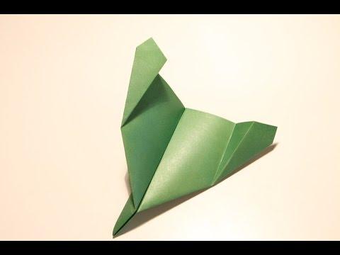 """Оригами. Самолет из бумаги """"Зеленый тигр"""" (летающий самолет)"""