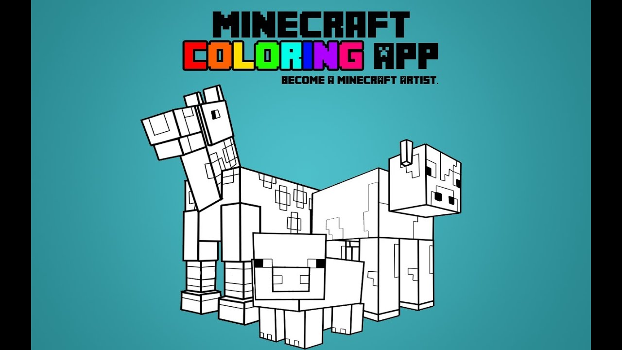 youtube minecraft coloring pages - photo#12