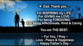 Happy Father's day best wishes to Dad, Greetings, Quotes, Sms, Whatsapp Video