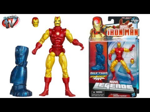 Marvel Legends Classic Iron Man 3 Build A Figure Toy Review. Hasbro