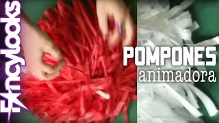 Pompones animadora DIY: Disfraz Grease, Sandy Cheerleader