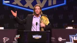 WWE WrestleMania XXVII Press Conference  Edge