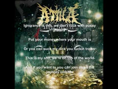 Attila- Middle Fingers Up Lyrics video