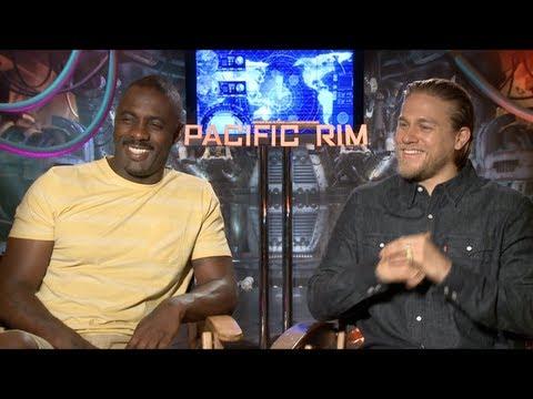 PACIFIC RIM Interviews: Charlie Hunnam, Idris Elba, Charlie Day, Ron Perlman And Guillermo Del Toro