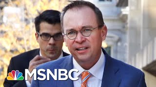 Mick Mulvaney Revealed Preference For Paying Lobbyists | Morning Joe | MSNBC