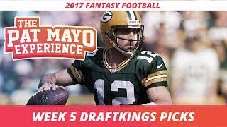2017 Fantasy Football - Week 5 DraftKings Picks, Preview and Sleepers