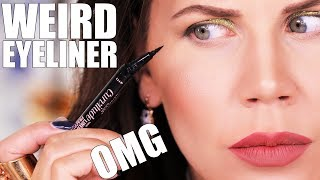 WEIRD NEW DRUGSTORE EYELINER ... OMG
