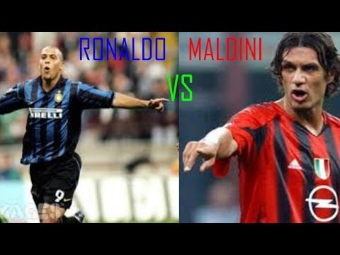Ronaldo ' Fenomeno' VS Paolo Maldini ★ The Milan Battle ★ HD
