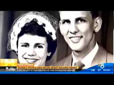 Elderly couple dies hours apart holding hands