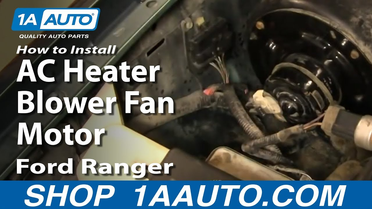 Blower motor not working ford ranger for How to test ac blower motor