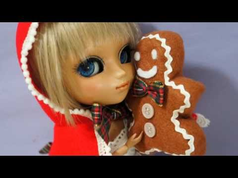 How to make doll outfit 28 Christmas hoodie and Gingerbread man plush toy