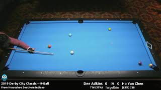 Dee Adkins vs Ho Yun Chen - 9-Ball - 2019 Derby City Classic