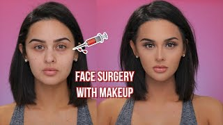 FACE SURGERY WITH MAKEUP