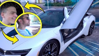 DIRIGI O CARRO NOVO DO JON VLOGS (BMW i8)  ‹ Carlos Santana ›