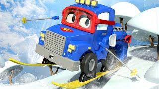 XE TẢI TRƯỢT TUYẾT và CÁC BÉ! - Siêu xe tải Carl 🚚⍟ những bộ phim hoạt hình về xe tải