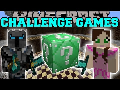 Minecraft: EMERALD SUPER LUCKY BLOCK CHALLENGE GAMES - Lucky Block Mod - Modded Mini-Game
