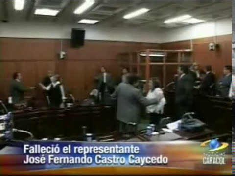 Death on Live Television - Columbian Congressman