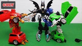 Batman biến hình Lego khổng lồ đánh nhau xe Robot Transformer siêu nhân hải tặc