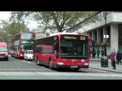 (HD) London Buses on Routes 521, 68 & 171 at Aldwych
