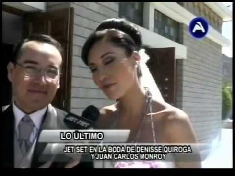 BODA DE JUAN CARLOS MONRROY Y DENISSE QUIROGA