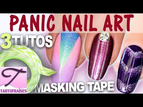 [Panic Nail Art] 3 Tutos géométriques tendance : dégradé et masking tape