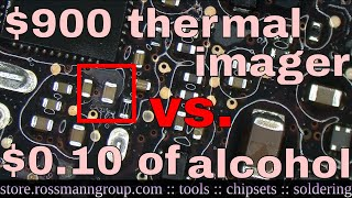 Fixing dead Macbook with a $900 thermal camera.