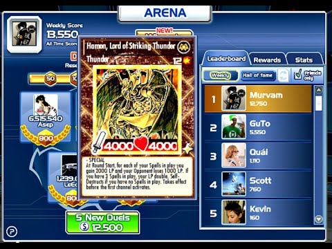 YU-GI-OH BAM !  SECOND DIVINE CARD  WIN 500 DUELS OF ARENA