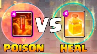 HEAL SPELL VS POISON SPELL - Clash Royale