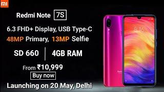 Redmi note 7s - Specifications & Price Confirmed | Redmi note 7s 48MP Camera, Sale