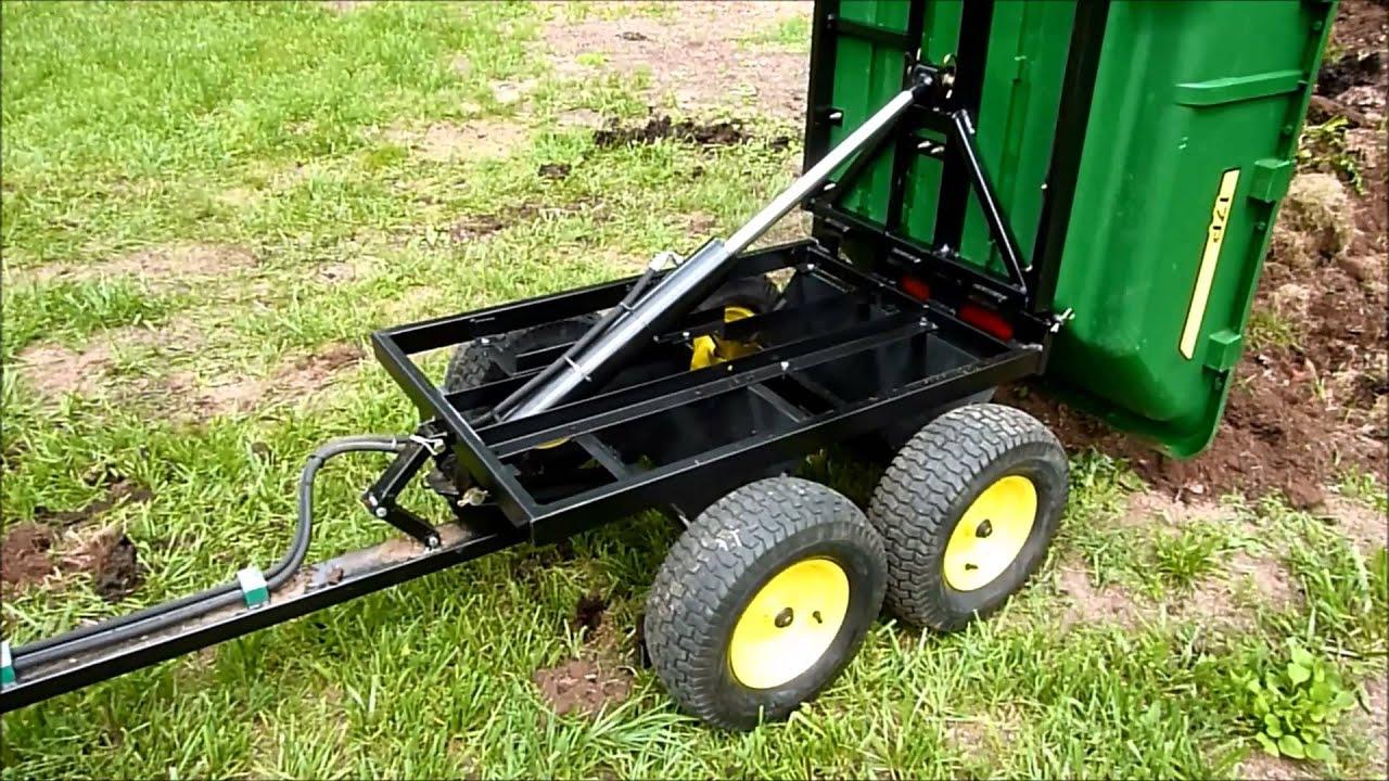 John Deere 17p Hydraulic Tandem Dump Cart Youtube