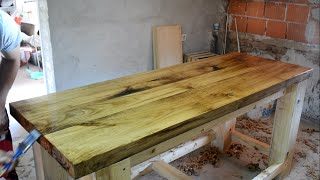 Making a Solid Oak Top Wooden Workbench