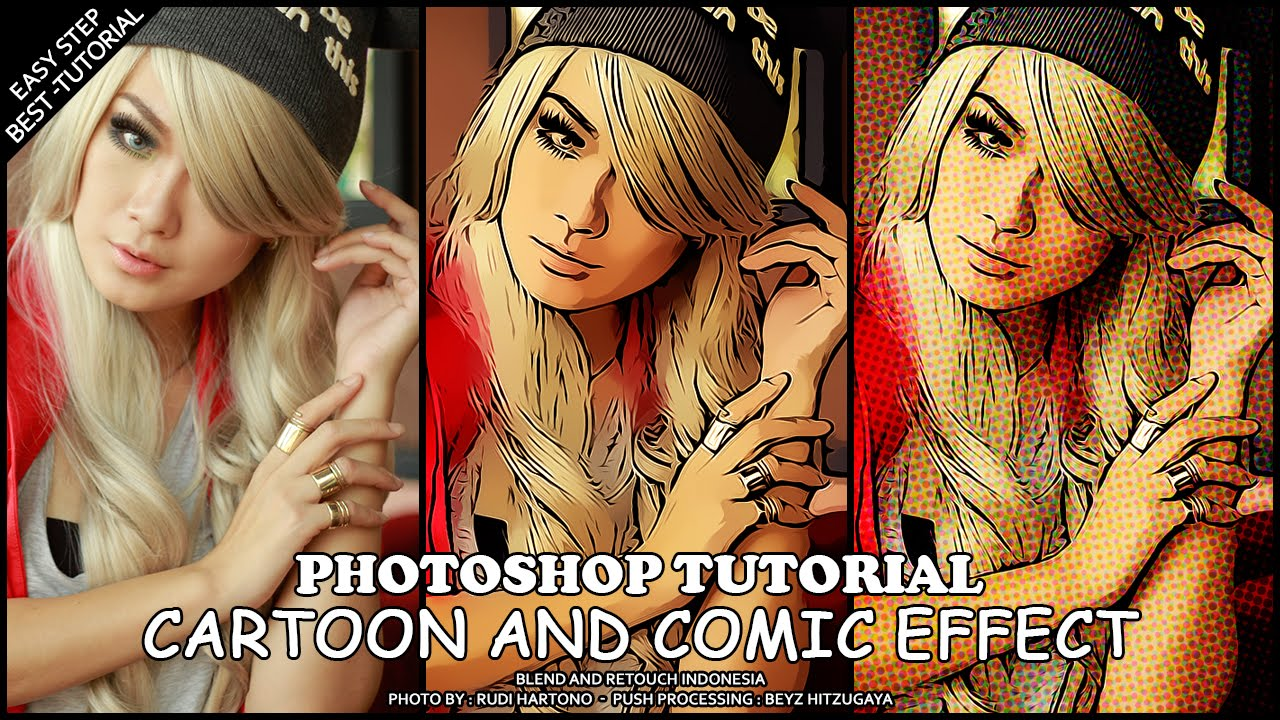 Comic Book Cover Tutorial Photo : Create easy cartoon effect photoshop tutorial youtube