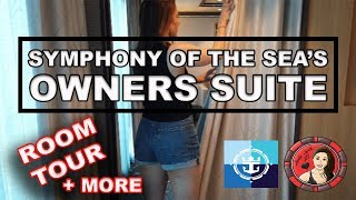 Royal Caribbean Symphony Of The Seas Owners Suite Room Tour!