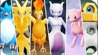Pokémon Let's Go Pikachu & Eevee - All Legendary Pokémon Locations (1080p60)