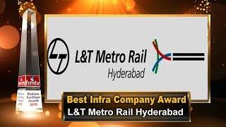 L & T Metro Rail Hyderabad Limited | Best Infrastructure Company Award | BEA 2019 | hmtv