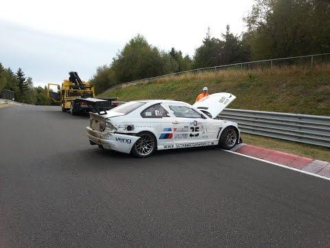 Epic Nürburgring lap ends with big crash