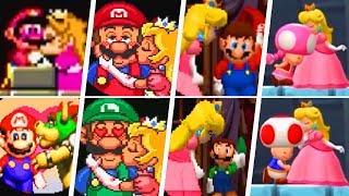 Evolution of Super Mario Kisses (1990 - 2018)