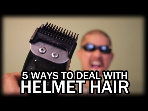Helmet Hair - 5 Ways to Prevent Avoid or Deal With It