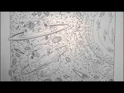 Doodle Art Quot Solar System Quot Poster Coloring Page Youtube