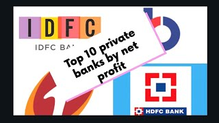 Top 10 Indian private sector banks by Net Profit (in Cr.) (May-2019)