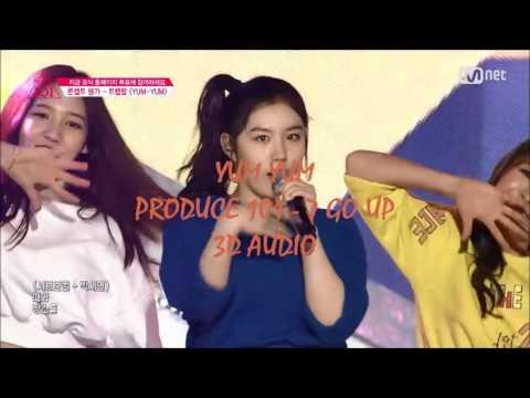 [3D Audio] YUM YUM 얌얌 - 7 GO UP [PRODUCE 101]
