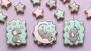ADORABLE BABY ELEPHANT COOKIES featuring SWEET MELODY DESIGNS!