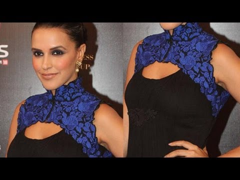 Neha Dhupia Looks Beautiful In Blue Taper Wear video