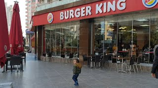 Baby boy goes to Burger King